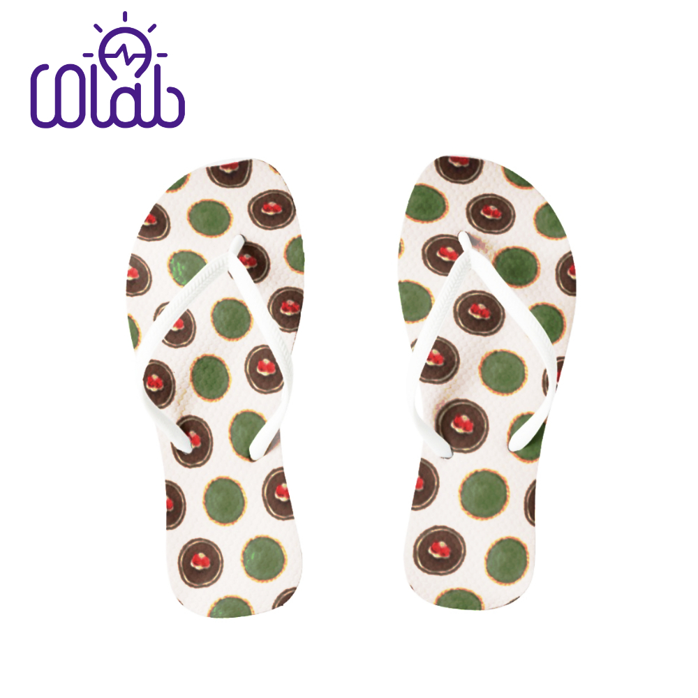 Durable Casual Beach Style Custom Printed Flip Flop Slippers