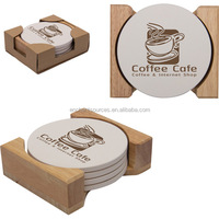 Round absorbent stone coaster set factory