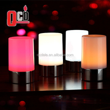 RGB color battery rechargeable home decorative cordless led table lamp for Bar and Hotel