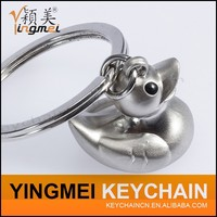 2016 newly design mini duck 3d metal keychain creativity fashion key chain small gifts bag purse hanging key chain