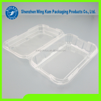 Custom plastic clamshell blister packaging large blister tray for food clear tray for fresh fruit