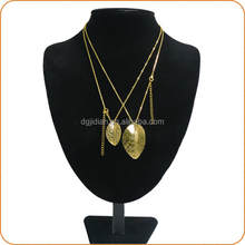 Wholesale hot sale Stainless steel jewelry sets with gold leaf shape pendant