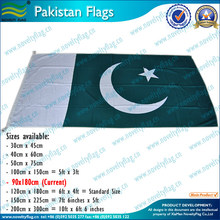 polyetser Pakistan flags