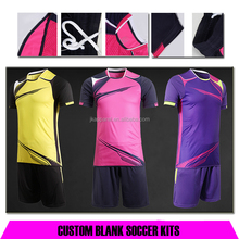 customized blank soccer kits 2017-2018 latest design football jersey