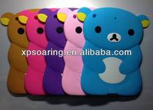 Cute Relax bear silicone case skin cover for ipad air