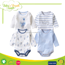 BR11 2015 Hot Sale Soft Organic Cotton Knitted Newborn Baby Romper