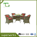 BSCI factory wicker rattan Dining Round Table And Chair