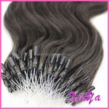 "Wholesale price 10""-30"" 6A/7A micro ring hair extensions for blacks"