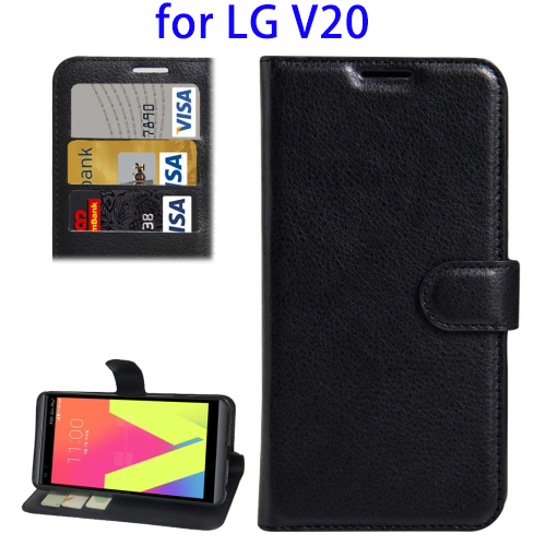 Litchi Texture Horizontal Flip Leather Case for LG V20 Case