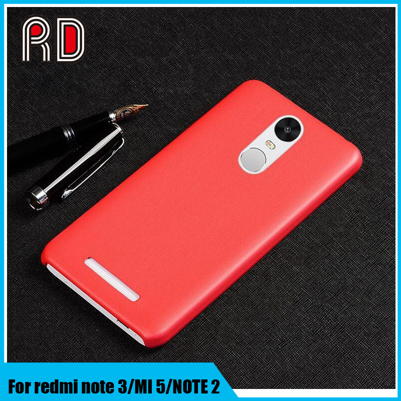 Ultra thin pu leather back cover for redmi note 3/redmi note 2, full cover leather case for xiaomi mi 5