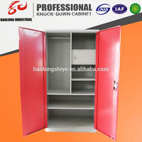 colorful KD steel almirah wardrobe with tv cabinet