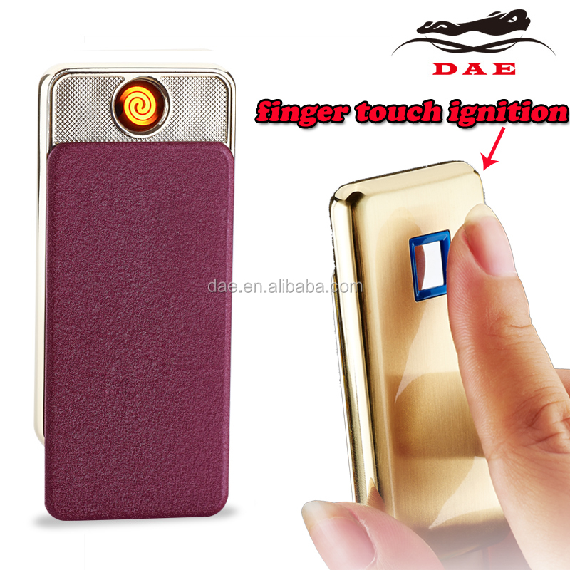 Flameless strong battery no gas newest lighter windproof ultra-thin charger usb lighter electronic cigarette lighter