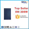 300W High Efficiency TUV Polycrystalline Silicon Solar board and solar panel with official certificate