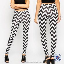 custom chevron print women beautiful long formal skinny pants