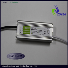 80W ip67 waterproof led tube driver with PWM/DC/Triac dimming control 30~36V 1.8/2.1/2.4A