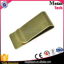 Blank custom quality novelty bronze money clip for souvenir