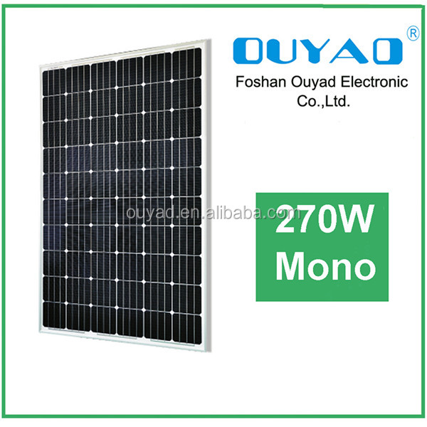 2016 newest factory price 270watt sunpower solar panel, mono solar panel 270watt