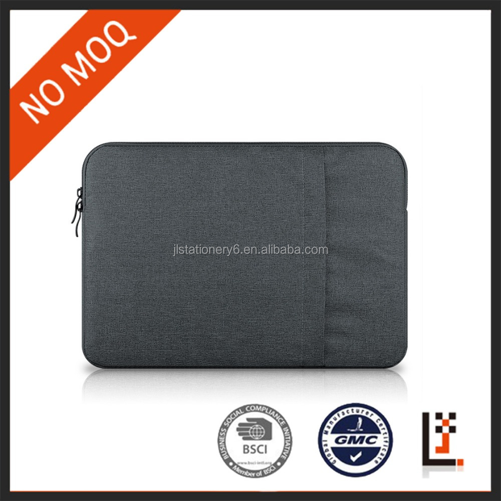 spot goods horizontal dark gray nylon laptop sleeve case for 11,13,15 inch for man