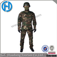 Brethable army combat uniform woodland camouflage clothing