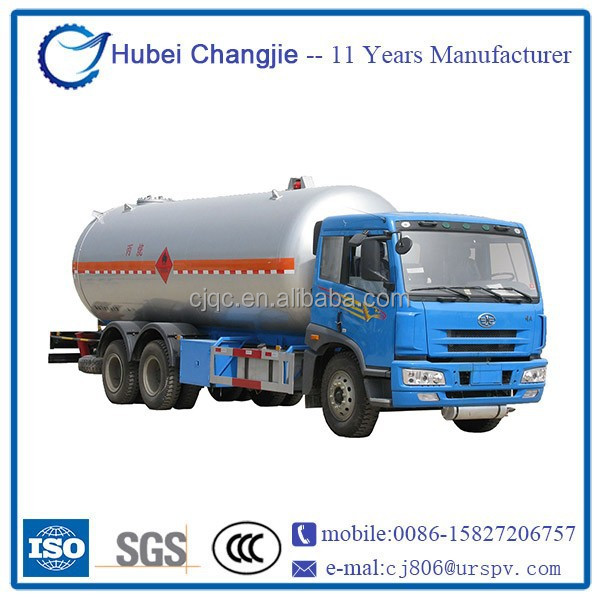 ISO certificated new FAW 6X4 10tons lpg gas tank truck factory price