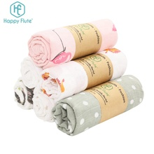HappyFlute 2019 newborn soft touch 100% cotton baby muslin swaddle blanket
