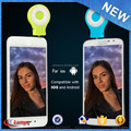 2016 selfie ring light led rechargeable camera flash light for mobile phone