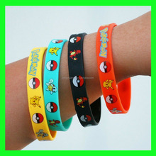 Pokemon GO Rubber Noctilucent silicon bracelet Wristband Pokemon Mewtwo Youth Silicone Wristband / Bracelet silicon bracelet