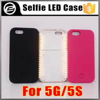 Factory wholesale material ABS+PC selfie LED light up phone case for iphone 5 5s 5se