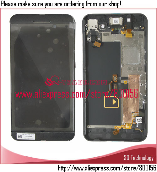 LCD Screen Display with Touch Screen Digitizer and frame Assembly Black color for BlackBerry Z10 4G Spare parts Made in China