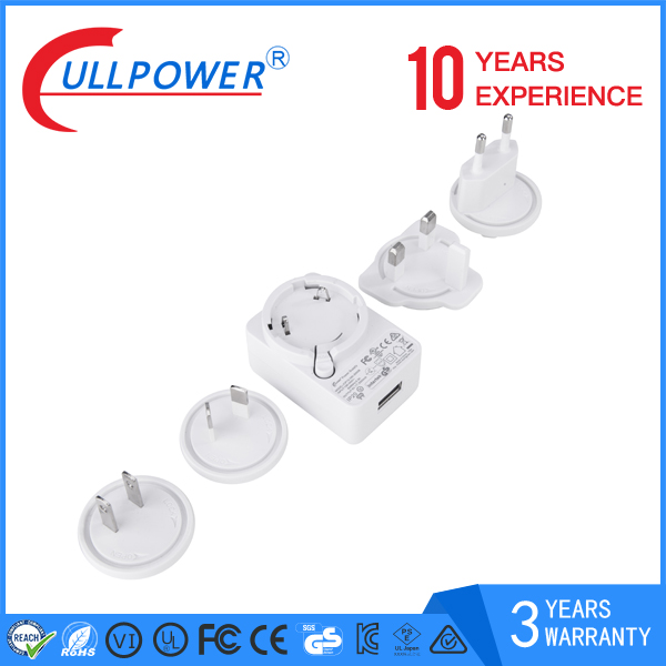 new design UL,CE,SAA 5W 12W interchangeable plugs adaptor 5V 2A 12V1A Switching Power AC/DC Adapters