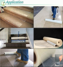For House Decorative Floor Protective Adhesive Backed Plastic Film