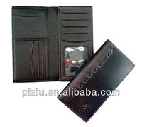 High quality Functional leather cheque book holder wallet