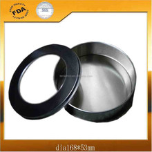 Round Gifts Tin Box with PVC Window