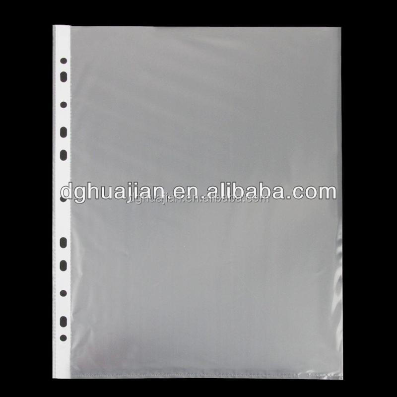 11 holes sheet protector,inner sheet,inside pages plastic two pocket office folder