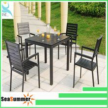 Teak iron table chair outdoor furniture