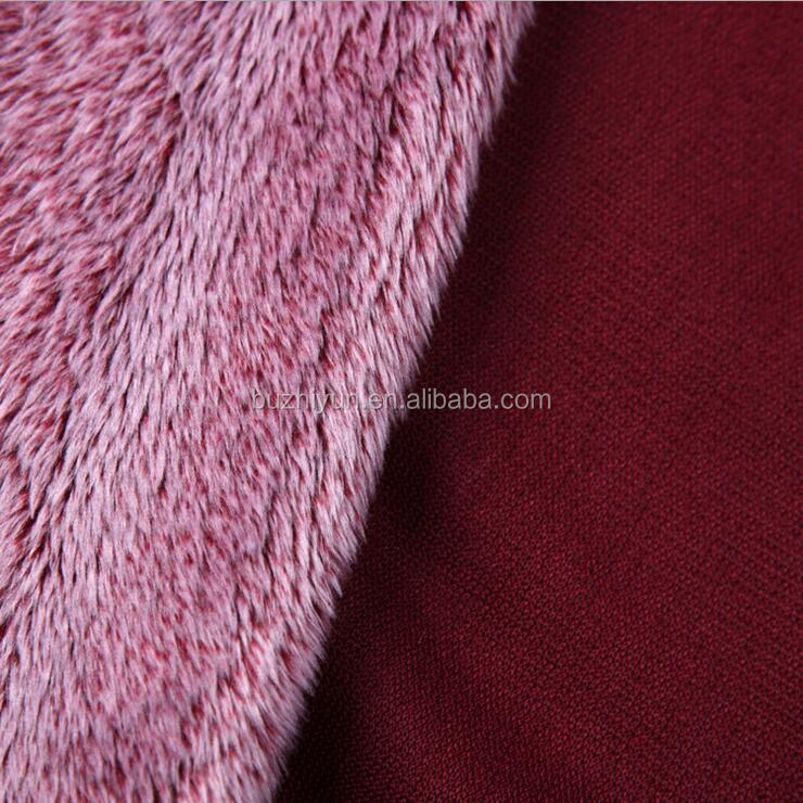 polyester discharge print velboa fabric for garment lining
