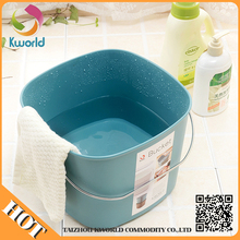 high quality durable using various oem laundry basket,plastic storage bucket with rope handle