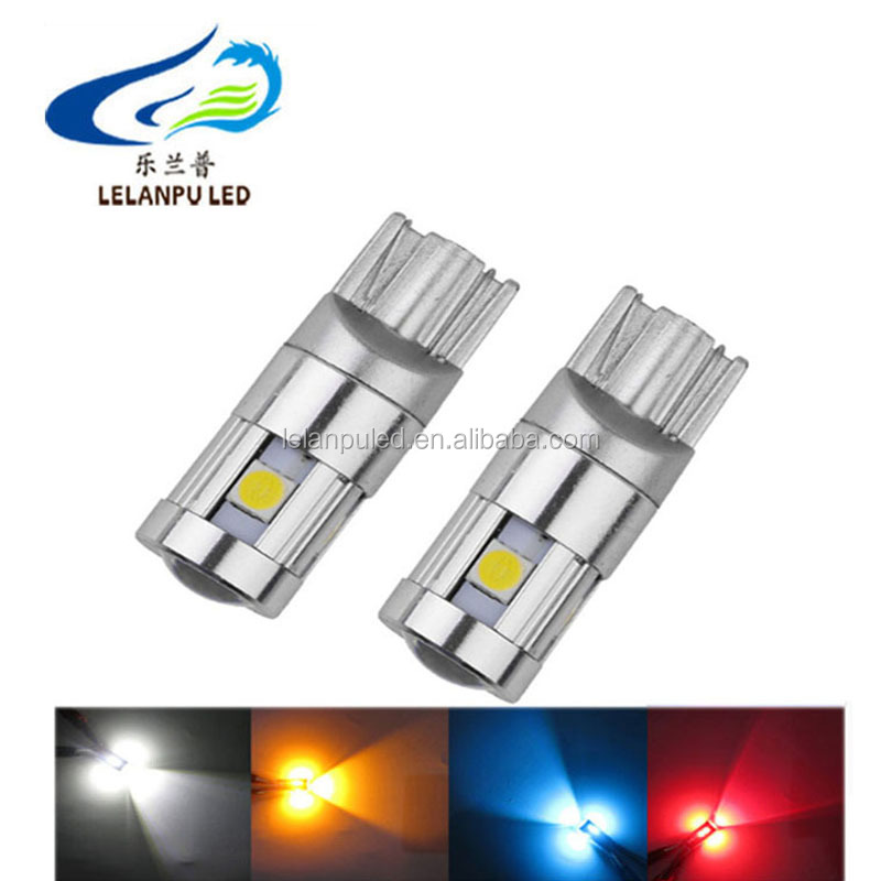 Car led clearance lamps wide voltage T10 3030 5smd with lens high light width lights for cars
