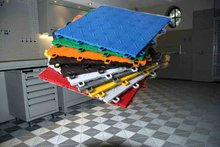 PVC outdoor interlocking plastic floor tiles for Workshop