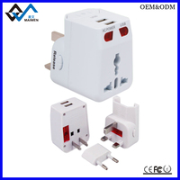 White AC DC Travel Power Plug Adapter Charger As Corporate Gift For Mobile Phones