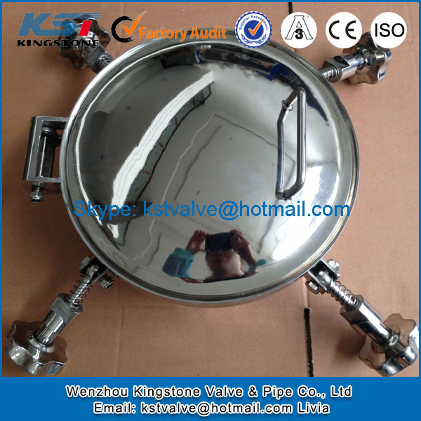 sanitary stainless steel welding round manhole cover for tanks DN200 SS304 SS316L