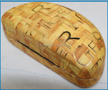 YT3060 Natural Wood Bamboo Glasses Case