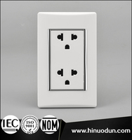 15 Amp 120-250 Volt CE IEC NOM RETIRE Standard 3 Pin Multi Function Electrical Socket