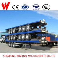 20ft 40ft Flatbed Semi Trailers For