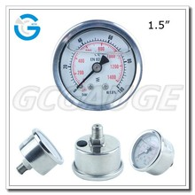 High Quality stainless steel bourdon tube manometer hydraulic
