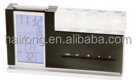 Hairong desk clock table alarm clock with time and date display