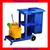 WL-033G Plastic Collection Janitor Cleaning Cart