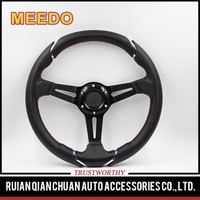 Proper price top quality 14 inch black suede steering wheel
