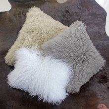 YR153 High Quality Fur Cushion Covers/Customize Size Beroom Mongolia Fur Cushion Cover