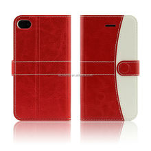 two-tone flip leather case for iphone